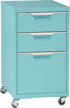 TPS aqua file cabinet  | CB2