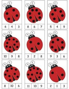 ladybug counting activity More on math and learning in general zentral-lernen.de Source by tinkerbel Counting Activities, Preschool Learning Activities, Preschool Activities, Space Activities, Math Games, Shapes For Preschool, Color Activities, Activity Games, Kindergarten Math Worksheets