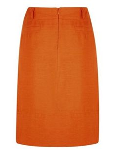 Minuet Petite Slub linen skirt Orange - House of Fraser