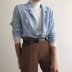 Will fit S/L depending on styling. Styled with caramel high waisted trousers. Never worn, Mode Outfits, Retro Outfits, Vintage Outfits, Casual Outfits, Fashion Outfits, Layering Outfits, Fashion Pants, Aesthetic Fashion, Look Fashion