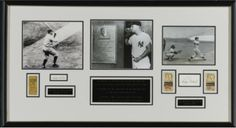 Babe Ruth and Roger Maris Home Run Record- Framed tribute to Roger Maris breaking Babe Ruth's Regular Season Home Run Record - features JSA authenticated signatures of Ruth and Maris, photo of Babe Ruth hitting his 60th home run, photo of Roger Maris visiting Babe Ruth's plaque in Monument Park (Yankee Stadium).  To find out more go to: http://www.framedsportsmoments.com