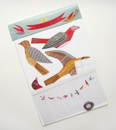Illustrated bird garland kit. $20.00, via Etsy.