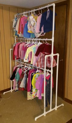 3-Level PVC Clothing Rack (made this for my wife to hang her consignment stuff on)