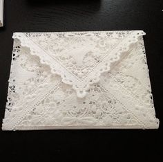 Curly Girl: Make Some Lace Envelopes