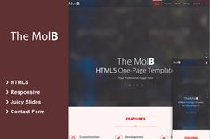 MolB HTML5 Template by All Rounder on Creative Market