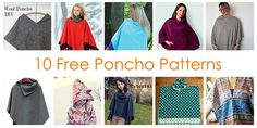 How to Make a Poncho with 10 Free Sewing Patterns