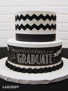 Chalkboard Grad Stacked Cake