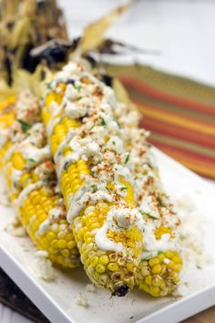 This might be a bit messy to eat, but this Mexican Street Corn recipe is delicious, and we promise you that you'll go back looking for seconds!