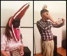Papercraft Contest 2015 - Instructables Beetlejuice Halloween, Halloween Kostüm, Couple Halloween Costumes, Homemade Costumes, Diy Costumes, Pumpkin People, Paper Mache, Trending Memes