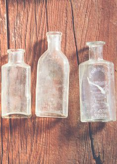 Antique Glass Bottles - Small by SoulMakes.com || can't wait to get paid again!!!