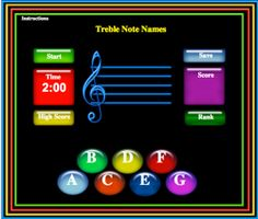 Music teacher games lines and spaces