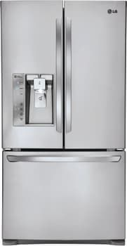 LG LFXC24726S - Counter Depth French Door Refrigerator from LG in Black Stainless Steel