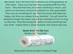 Narcissistic Parent Help Questions Answered!: Narcissists Don't Do Favors!