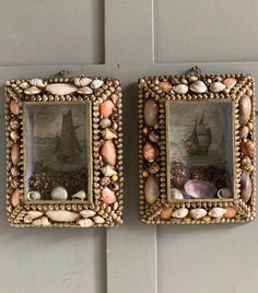 Seashell Frame, Seashell Art, Seashell Crafts, Art Projects, Projects To Try, Vintage Sailor, Arts And Crafts, Diy Crafts, Broken China