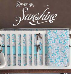 You are my sunshine childrens nursery    by itswritteninvinyl, $22.00