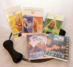 Winsor Pilates 3 DVD 5 Workouts Set + 20 Minute Circle Workout, Accelrated Fat Buring + Sculping Beginner + Circle Advanced w/ Cookbook/ Meal Planner/ Excercise Calendar & Winsor Pilates Circle $69.50