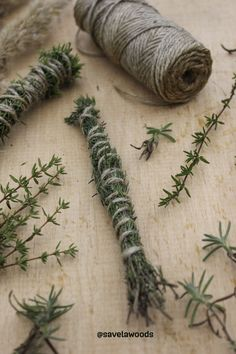 DIY smudge stick with thyme and juniper Smudge Sticks, Smudging, Finland, Diy, Bricolage, Do It Yourself, Homemade, Diys, Crafting