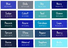 Teal blue color shades of teal color names light blue color names blue green shades of . Blue Shades Colors, Teal Blue Color, Indigo Colour, Light Blue Color, Shades Of Blue Names, Green Shades, Blue Green, Dark Blue, Color Names Chart