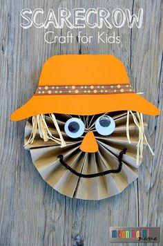Paper Pinwheel Scarecrow Tutorial - Fun Autumn or Fall Craft Idea for Kids