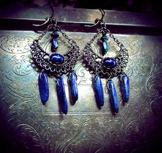 Hey, I found this really awesome Etsy listing at https://www.etsy.com/listing/216972494/lapis-lazuli-chandelier-earrings-genuine
