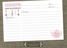 Hey, I found this really awesome Etsy listing at http://www.etsy.com/listing/160361771/kitchen-tea-teapot-shower-recipe-cards