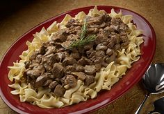 Beef Stroganoff with yogurt