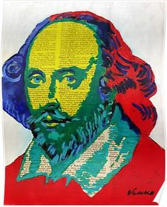 'William Shakespeare' Poster by VenusArtist Shakespeare Portrait, Shakespeare In Love, William Shakespeare, Book Festival, Art Thou, Collage Design, Book Lovers Gifts, Portrait Art, Aesthetic Art