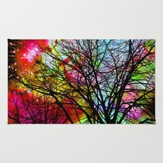 Rainbow Tree Area & Throw Rug