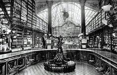 Interior de la Drogueria de la Profesa. Propiedad de Jules Labadie. s. XIX