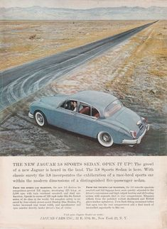 1959-1967 Jaguar 3.8 Sports Sedan - vintage color advertisement #jaguarvintagecars