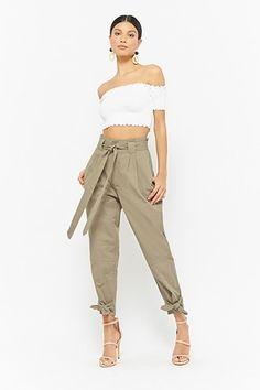 6b0069be24 Belted Paperbag Pants. Paperbag PantsCargo Pants WomenFashion BeltsHoodie  DressTailored TrousersPiece Of ClothingWomen s ...