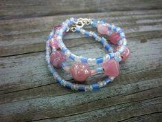 Spring Bracelets Stacking Bracelets Glass by ThreadedChains