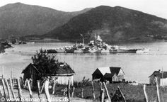 15 in battleship Tirpitz in Norway, summer 1942: she spent most of her career there as a threat in being to the Arctic convoys, often attacked by the British and finally sunk by RAF Avro Lancasters of Nos 617 and 9 Squadrons using 12000 lb 'Tallboy' bombs in November 1944: she capsized after 2 direct hits and one near miss.