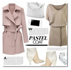 """Pretty Pastel Trench Coats"" by dolly-valkyrie ❤ liked on Polyvore featuring Emu, IRO, chissene, women's clothing, women's fashion, women, female, woman, misses and juniors"