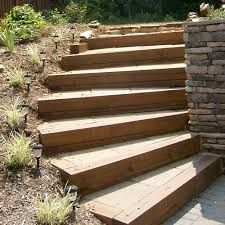 Image result for design for railway sleepers to enhance garden stream bank