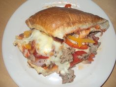 Bill's 1st ever ground turkey, turkey sausage, & turkey pepperoni! Stromboli!!! So so easy & good!