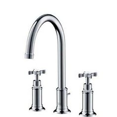 Hansgrohe Axor Montreux Widespread Faucet with Cross Handles 16513831 Polished Nickel (Polished Nickel)