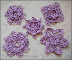 free irish crochet flower patterns - Yahoo Search Results