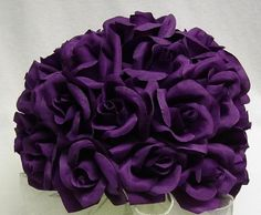 super ♥ these deep purple roses