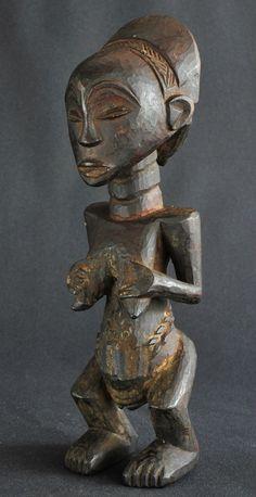 Statue Ancêtre Luba Congo EX Zaire Ancestor Figure ART Africain Tribal Premiers…
