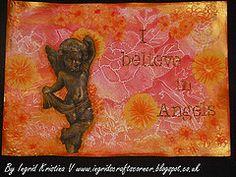 I believe in Angels - journal page by Ingrid Kristina V www.ingridscraftscorner.blogspot.co.uk