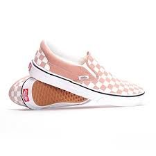 light pink checkerboard vans