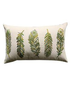 Love this Feather Throw Pillow on #zulily! #zulilyfinds