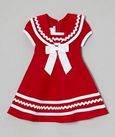 Red & White Sailor Dress - Infant, Toddler & Girls