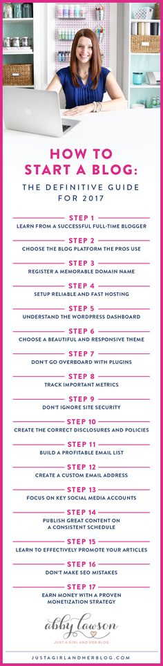 This post shows you exactly how to start a blog in 2017 and walks through everything step by step! Click through to learn everything you need to know about starting a blog!