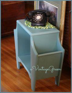 a Vintage Green: Painting Vintage Wooden Furniture