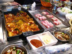 Octopus + pork = heaven @ Hongdae, Seoul