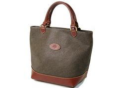 Mulberry Mole & Brandy Scotchgrain & Leather Hellier Handbag Tote