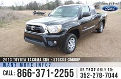 2013 Toyota Tacoma SR5 - Club Cab - 2.7L Engine - Remote Keyless Entry - Alloy Wheels - Tinted Windows - Fog Lights - Safety Airbags - Powered Windows/Locks/Mirrors - Seats 4 - AM/FM/CD - iPod/AUX/USB Ports - Bluetooth - Touch Screen - Digital Compass - Outside Temperature Display - Backup Camera - Cruise Control and more!