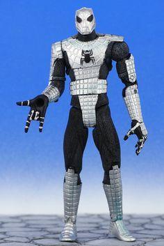 "Spider-Man Classics ARMOR SPIDER-MAN 6"" Action Figure web-trap Toy Biz 2005 #ToyBiz"